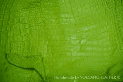 Da cá sấu Volcano Leather