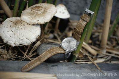 Dây đồng hồ da cá sấu Volcano leather