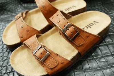 Dép da đà điểu Volcano leather