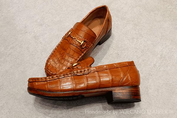 Giày mọi da cá sấu Volcano Leather