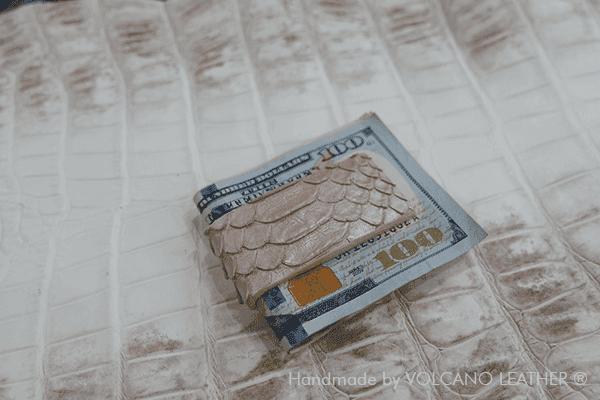 Kẹp tiền da trăn Volcano Leather