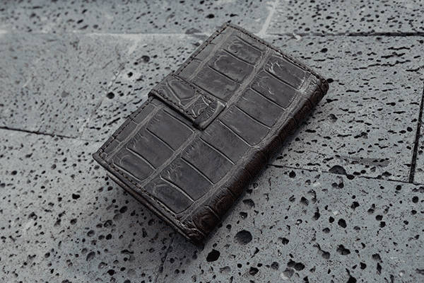 Ví card da cá sấu Volcano leather