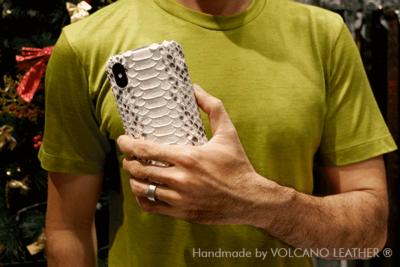 Ốp lưng Iphone da trăn Volcano leather