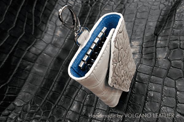 Ví chìa khóa da cá sấu Volcano leather
