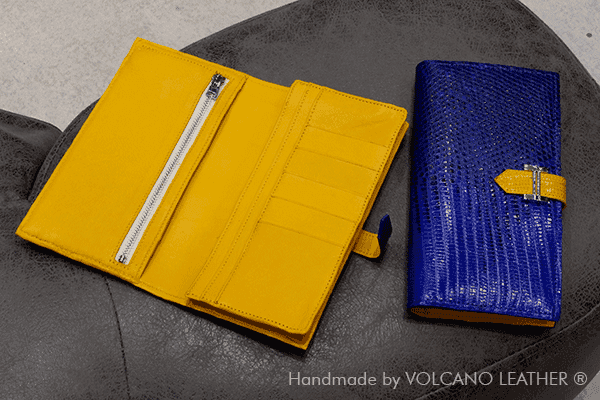 Ví nữ da kỳ đà Volcano leather