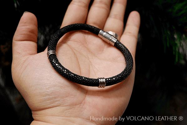 Vòng tay da cá đuối VOLCANO Leather