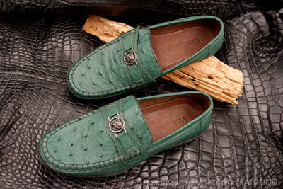 Giày nam da đà điểu