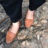 Giày nữ da đà điểu